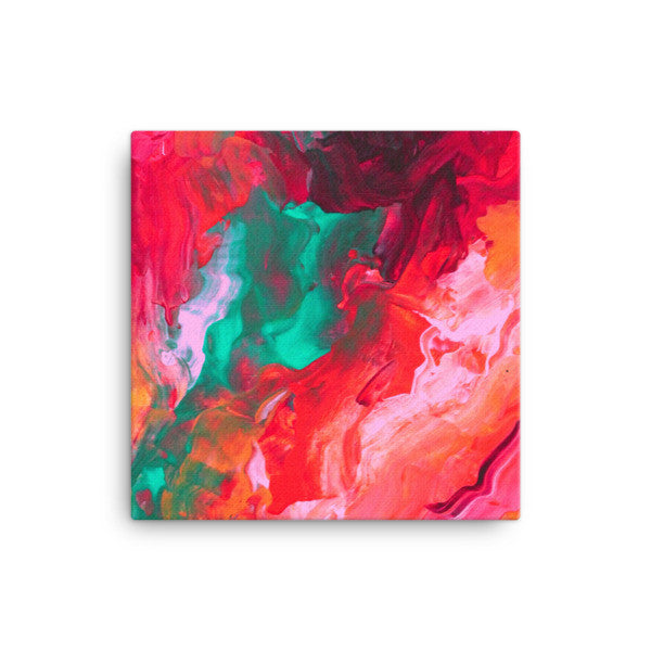 Pink and Teal Canvas Art - Canvas Print - Bright Colors - The Modern Home Co. by Liz Moran