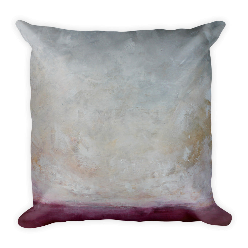 Fushsia Landscape - Square Throw Pillow - The Modern Home Co. by Liz Moran