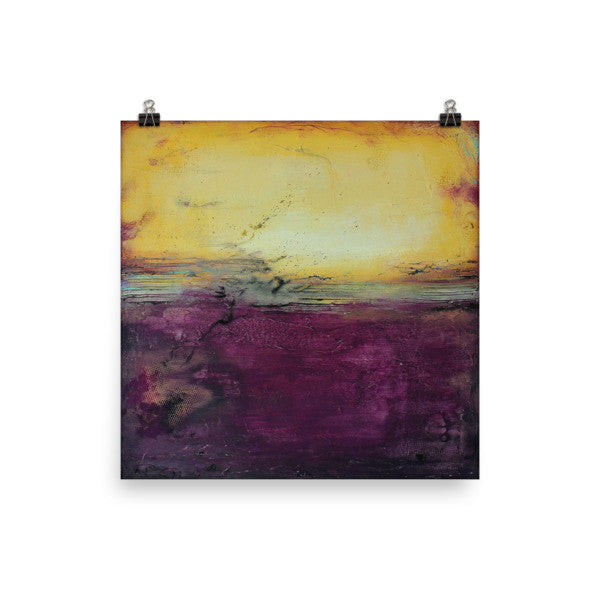 Purple Wall Art - Luxe Home Decor - Square Poster Print