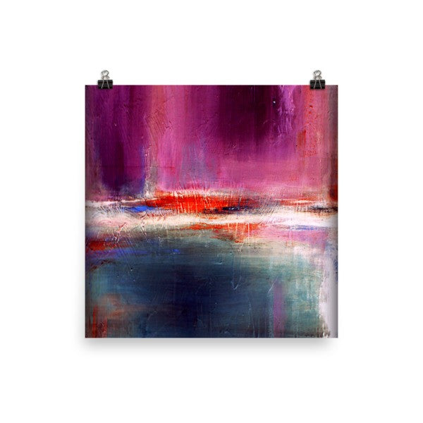 Purple and Blue Urban Art Print - Romance - Poster Print
