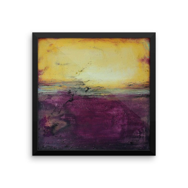 Purple Abstract Art - Framed Art - Poster Print - The Modern Home Co. by Liz Moran