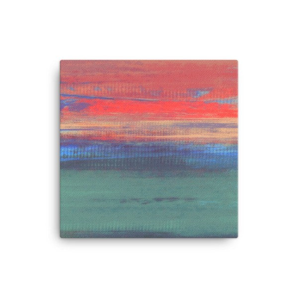 Umbre Canvas Print - Minimalist Sunset - Pink, Purple and Teal Art