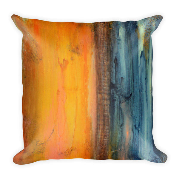 Orange and Blue Throw Pillow – Decorative Pillow - The Modern Home Co. by Liz Moran