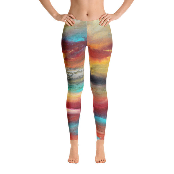 Castaway - Abstract Leggings - The Modern Home Co. by Liz Moran