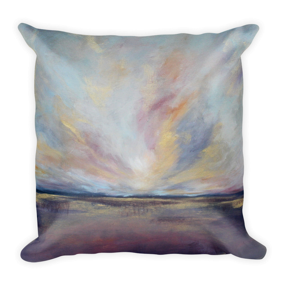 Purple and Gold Throw Pillow - The Modern Home Co. by Liz Moran
