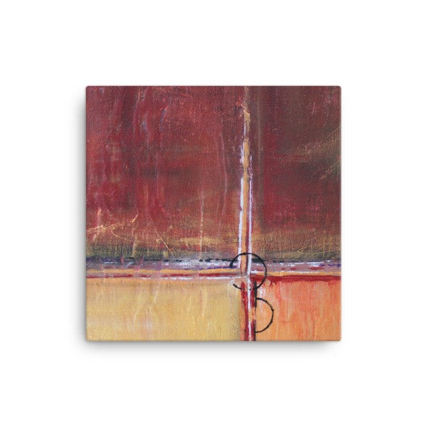 Cargo - Red and Gold Wall Art - Contemporary Canvas Print