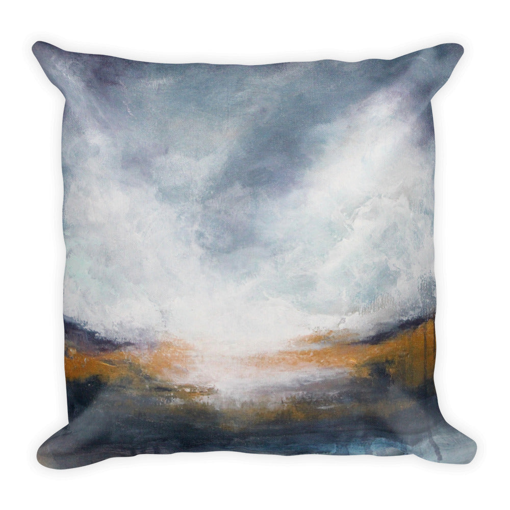 Morning Mist - Landscape Throw Pillow - The Modern Home Co. by Liz Moran