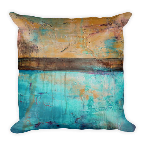 Mermaid Dreams - Square Throw Pillow - The Modern Home Co. by Liz Moran