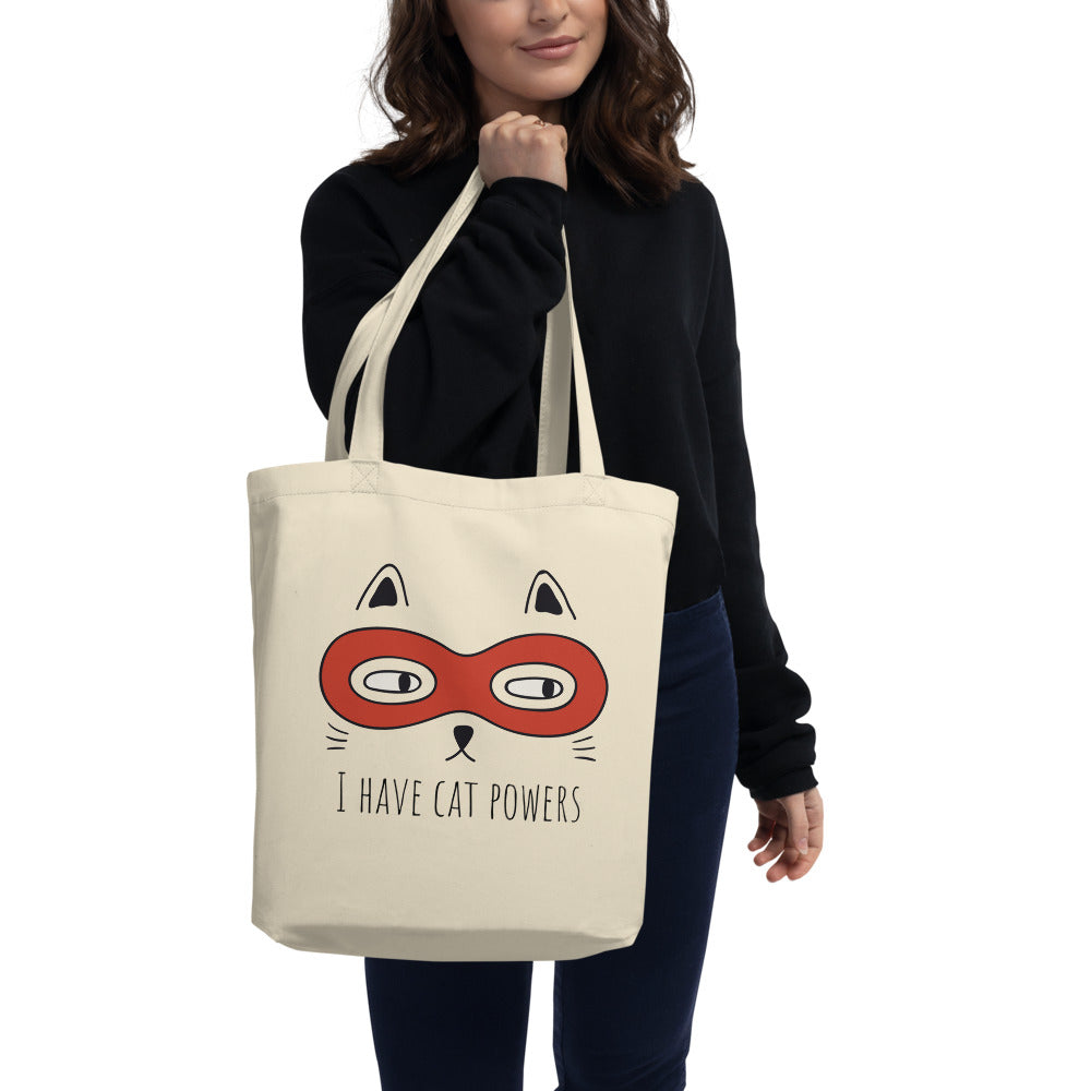 I Have Cat Powers - Eco Tote Bag - The Modern Home Co. by Liz Moran