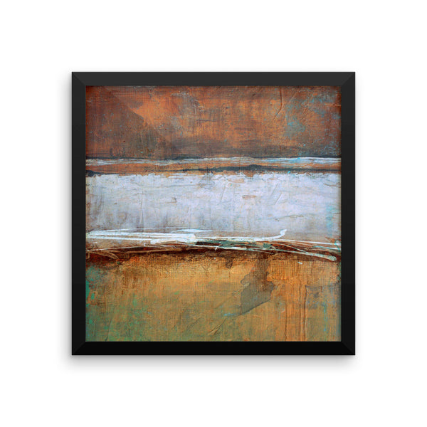Metal Layers Framed Print - The Modern Home Co. by Liz Moran