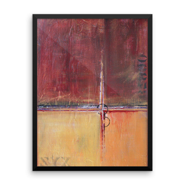 Cargo - Red and Gold Wall Art - Framed Art Poster - The Modern Home Co. by Liz Moran