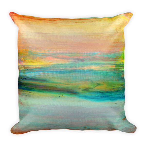 Sky Scape - White Pillow - The Modern Home Co. by Liz Moran