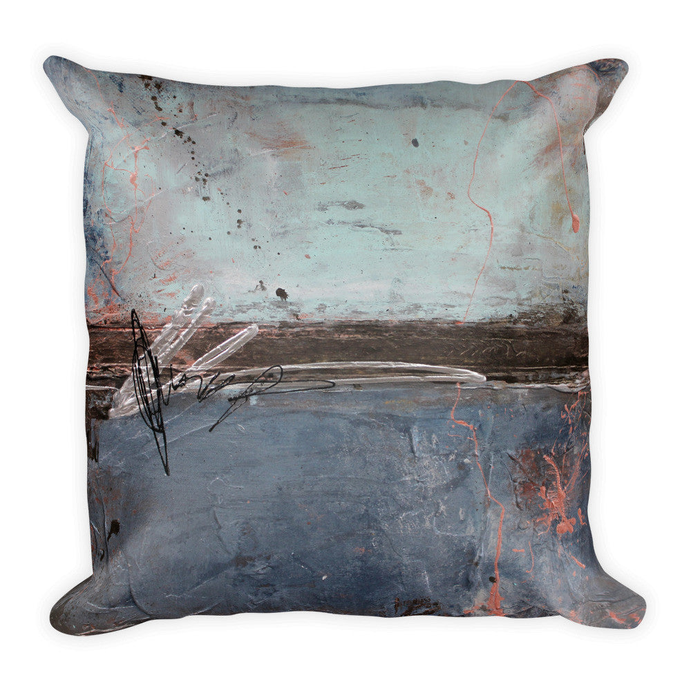 2nd Street Blues - Blue Throw Pillow