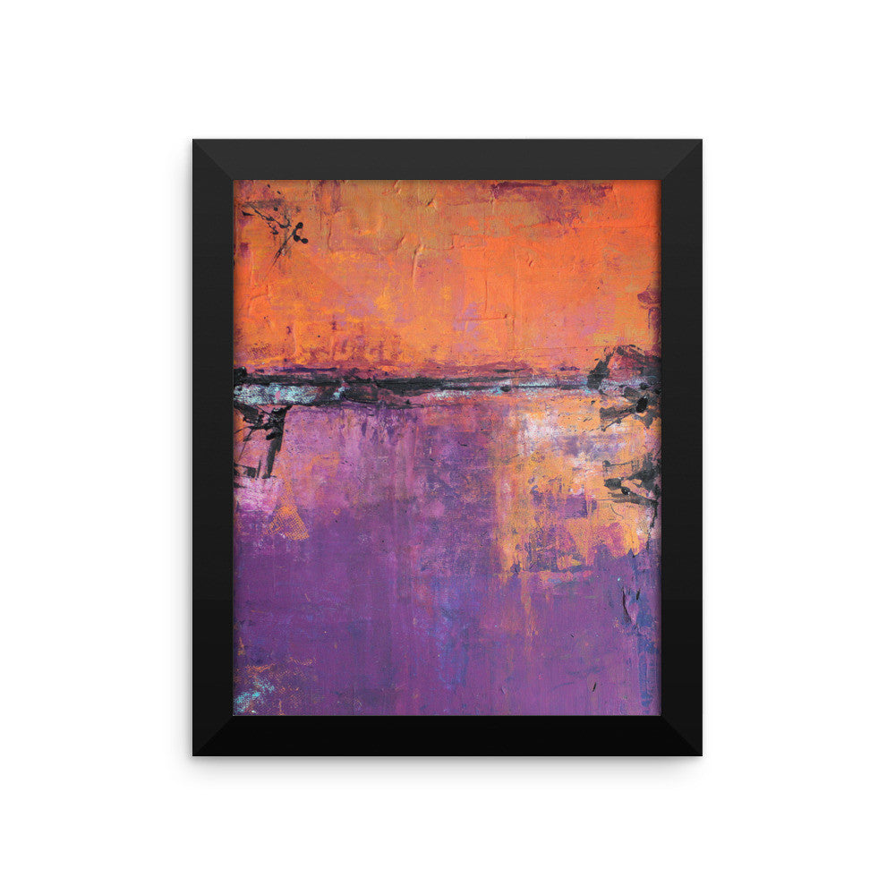 Poetic City - Framed Art Print - The Modern Home Co. by Liz Moran