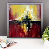 Red and Yellow Wall Art - Framed Poster Print