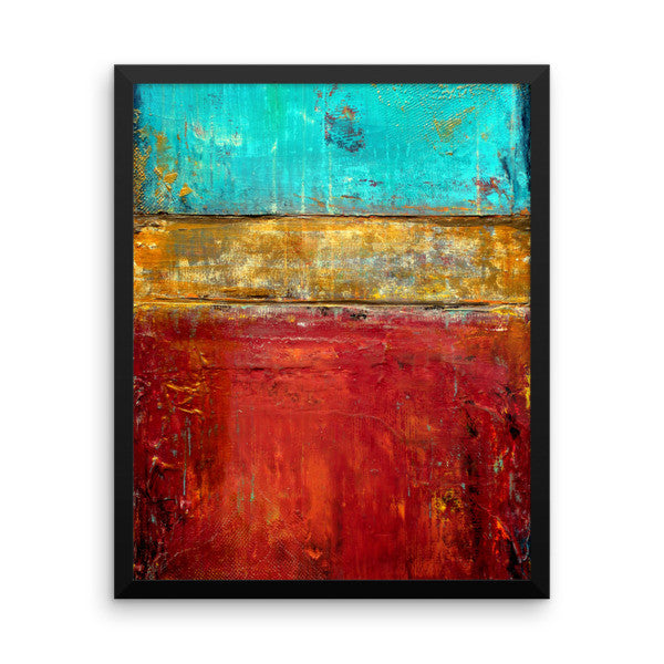 Red, Blue and Gold Wall Art - Framed Print - Poster Print - The Modern Home Co. by Liz Moran