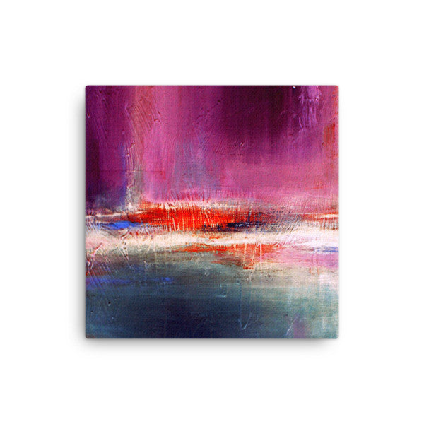 Purple and Blue Urban Canvas Print - Romance - Canvas Print