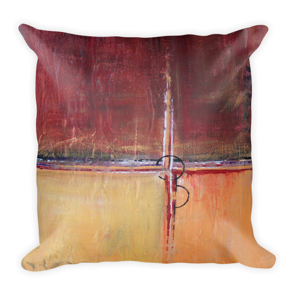 Cargo - Red and Gold Throw Pillow