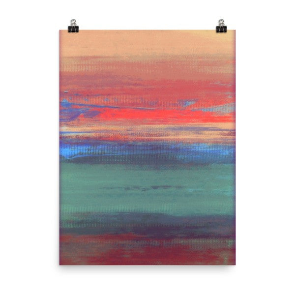 Afternoon Sunset - Abstract Skyscape - Poster Print - The Modern Home Co. by Liz Moran