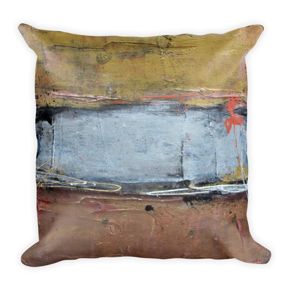 Silver Line - Metallic Throw Pillow - The Modern Home Co. by Liz Moran