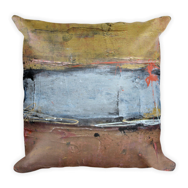 Silver Line - Metallic Throw Pillow