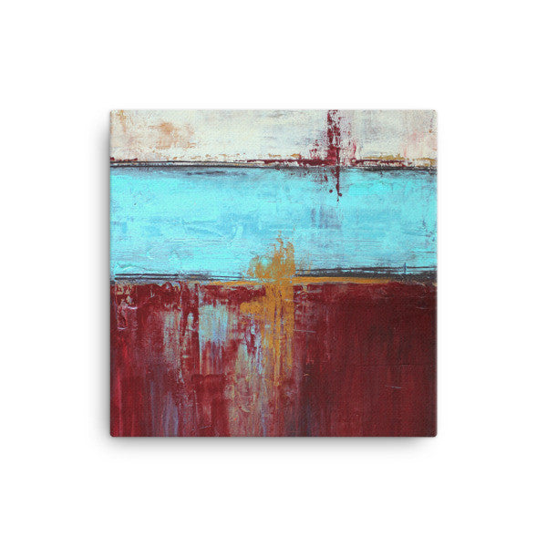 Red, White and Blue Canvas Print - The Modern Home Co. by Liz Moran