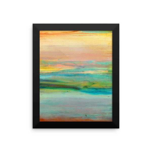 Minimalist Art - Abstract Sky and Clouds - Framed Art Print - The Modern Home Co. by Liz Moran