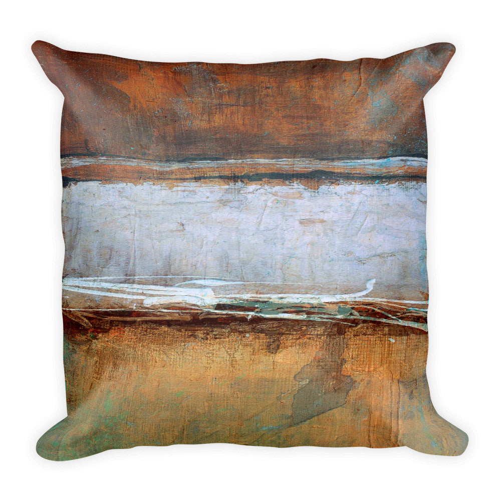 Metal Layers Square Throw Pillow