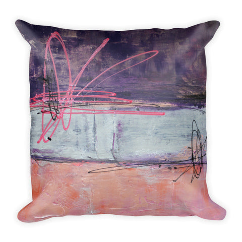 Sugar Plum - Pink and Purple Throw Pillow