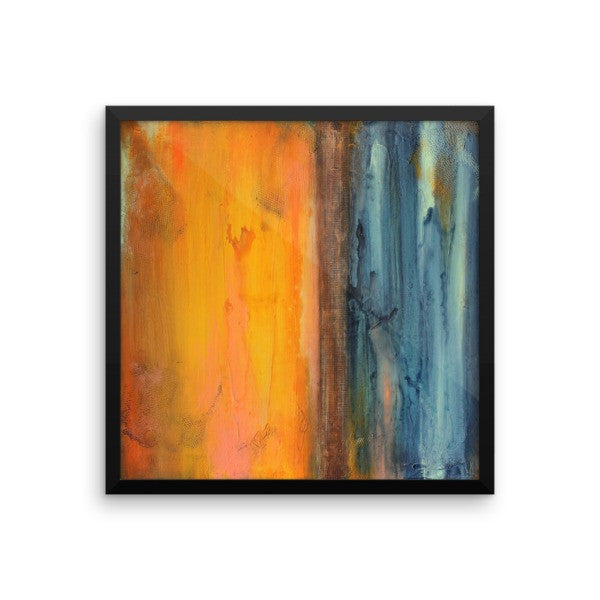 Seascape Art - Blue and Orange Wall Decor - Framed Art Print - The Modern Home Co. by Liz Moran