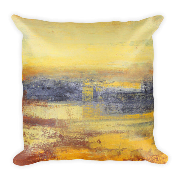 Yellow and Grey Throw Pillow - The Modern Home Co. by Liz Moran