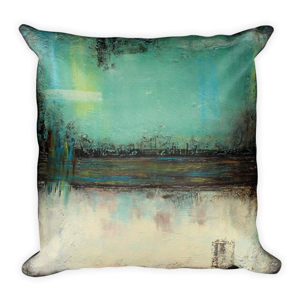 Sage Green and Ivory Throw Pillow