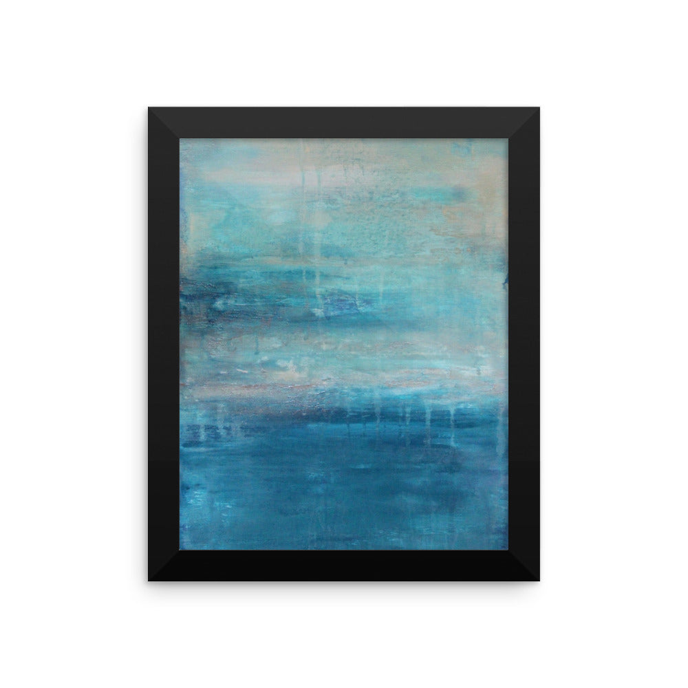 Raindrops - Framed Poster Print - The Modern Home Co. by Liz Moran