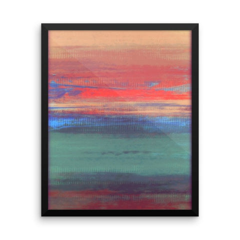 Umbre Art - Abstract Landscape - Framed Art Print