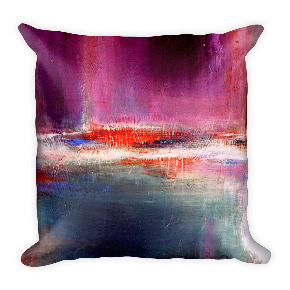 Romance – Purple and Blue Throw Pillow - The Modern Home Co. by Liz Moran