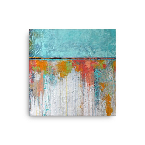 Coral Reef Canvas - Canvas Art Print - White and Blue Canvas - The Modern Home Co. by Liz Moran