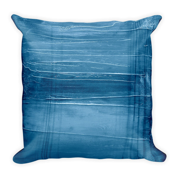 Modern Blue Throw Pillow
