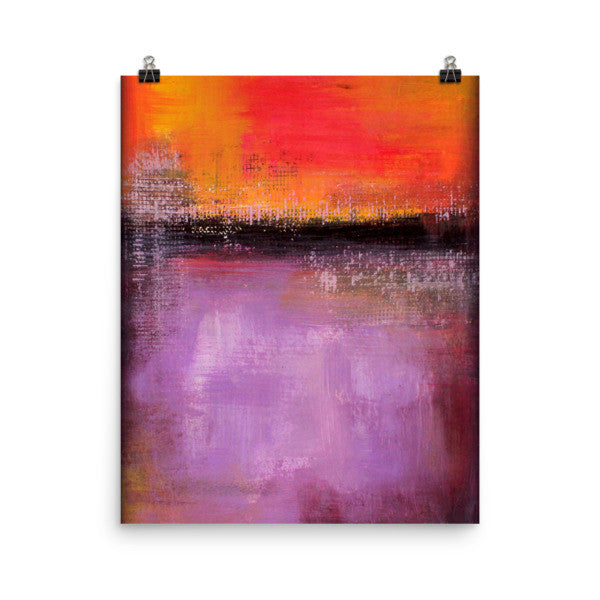 Sunset - Purple and Orange Art Print - Poster Print - The Modern Home Co. by Liz Moran