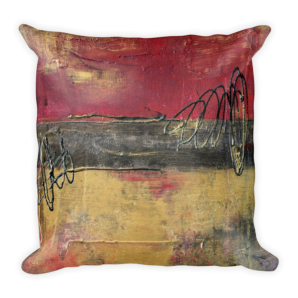 Metallic Square Series I - Throw Pillow