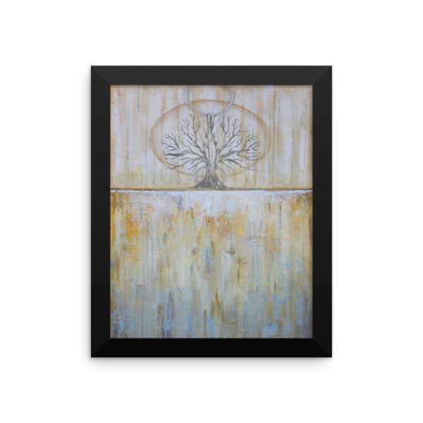 Solstice - Framed Tree Poster - Gold Wall Art - The Modern Home Co. by Liz Moran