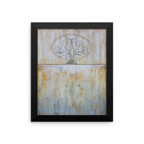 Solstice - Framed Tree Poster - Gold Wall Art