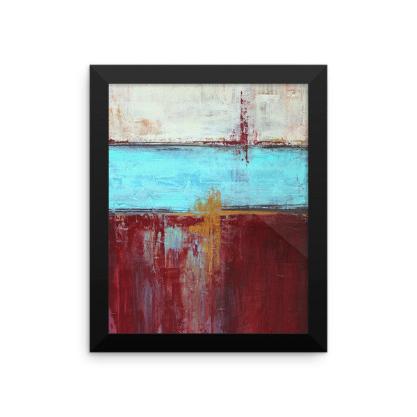 Red, White and Blue Framed Poster Print - The Modern Home Co. by Liz Moran