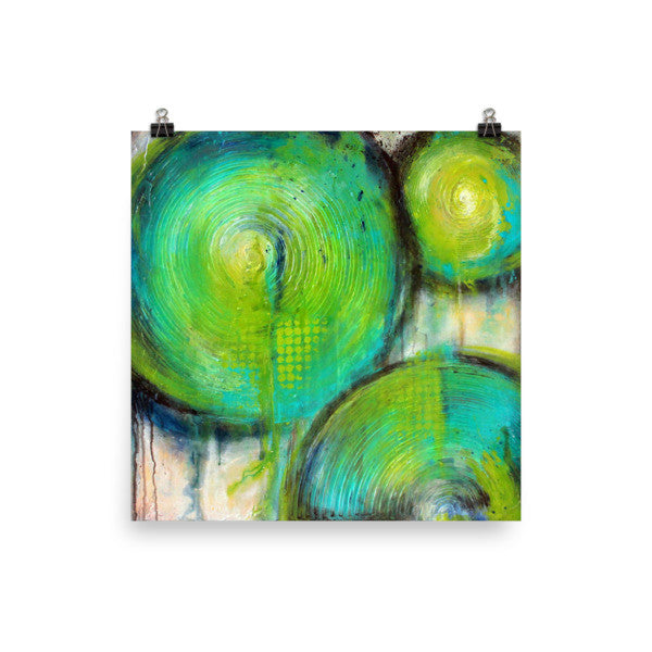Firefly - Abstract Art Poster - The Modern Home Co. by Liz Moran