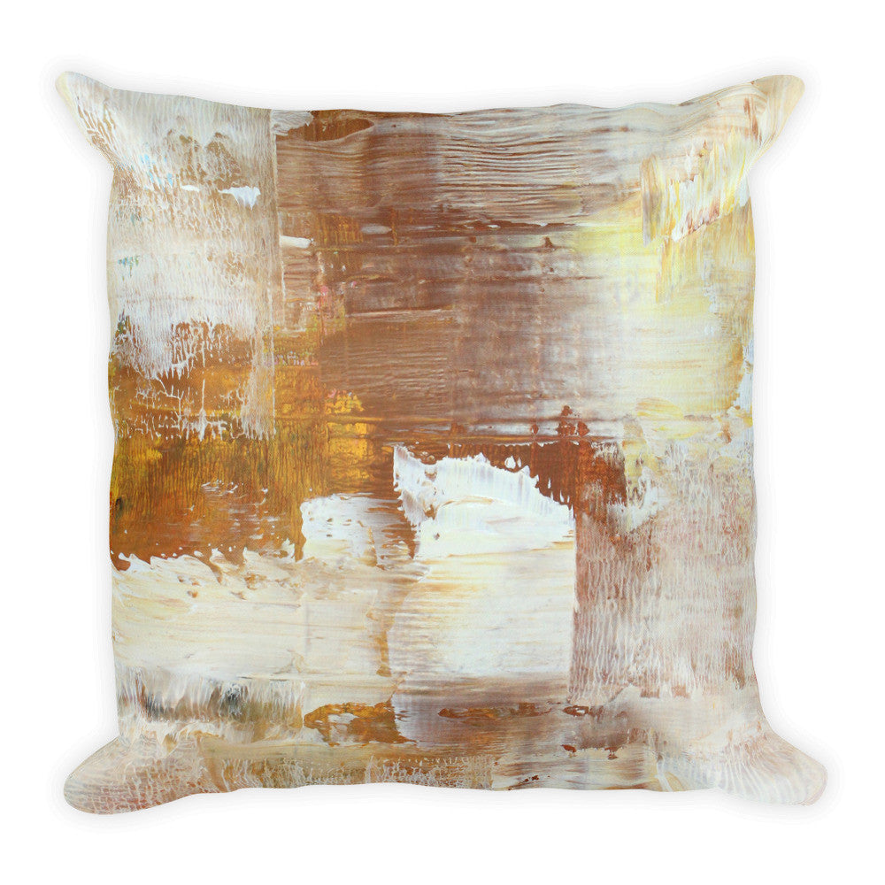 Honey Brown Square Pillow