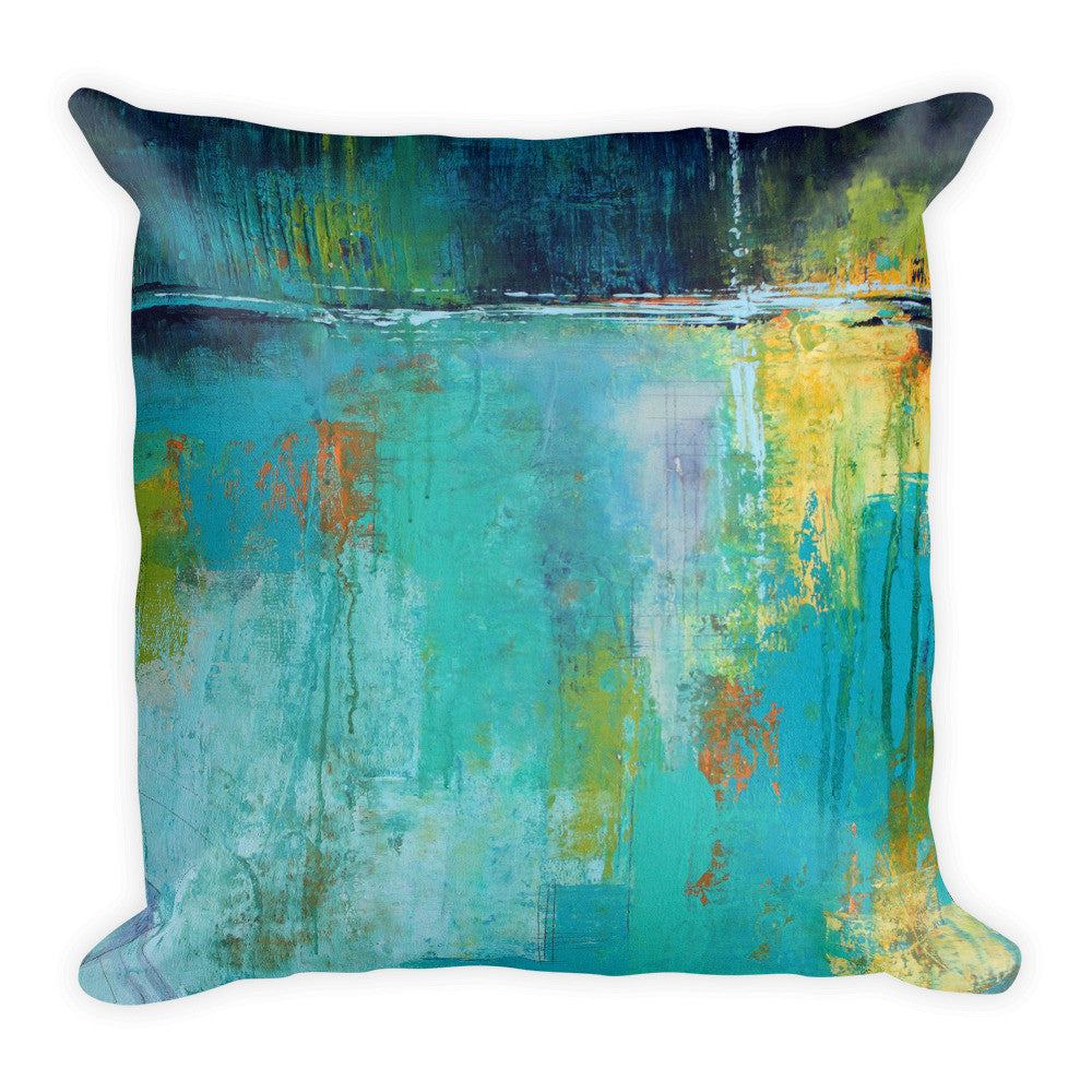 Tranquil Nights - Urban Abstract Throw Pillow - The Modern Home Co. by Liz Moran
