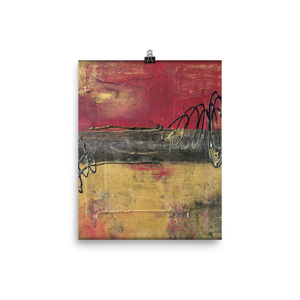 Metal Square Series I - Poster Print - The Modern Home Co. by Liz Moran