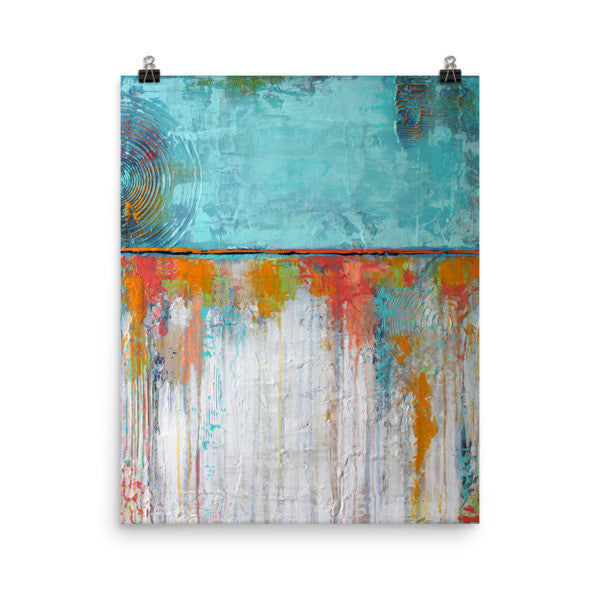 Blue and White Poster Print - Abstract Wall Art - The Modern Home Co. by Liz Moran