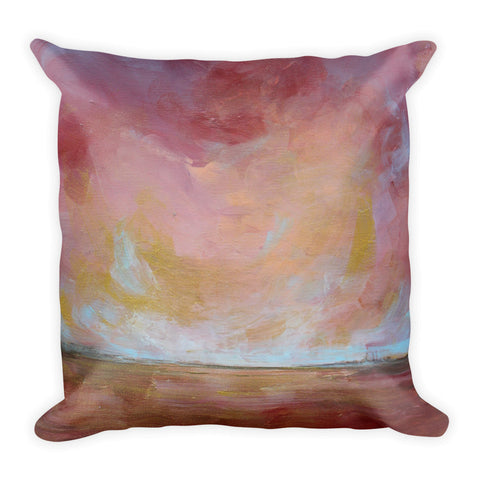 Sunburst - Abstract Throw Pillow