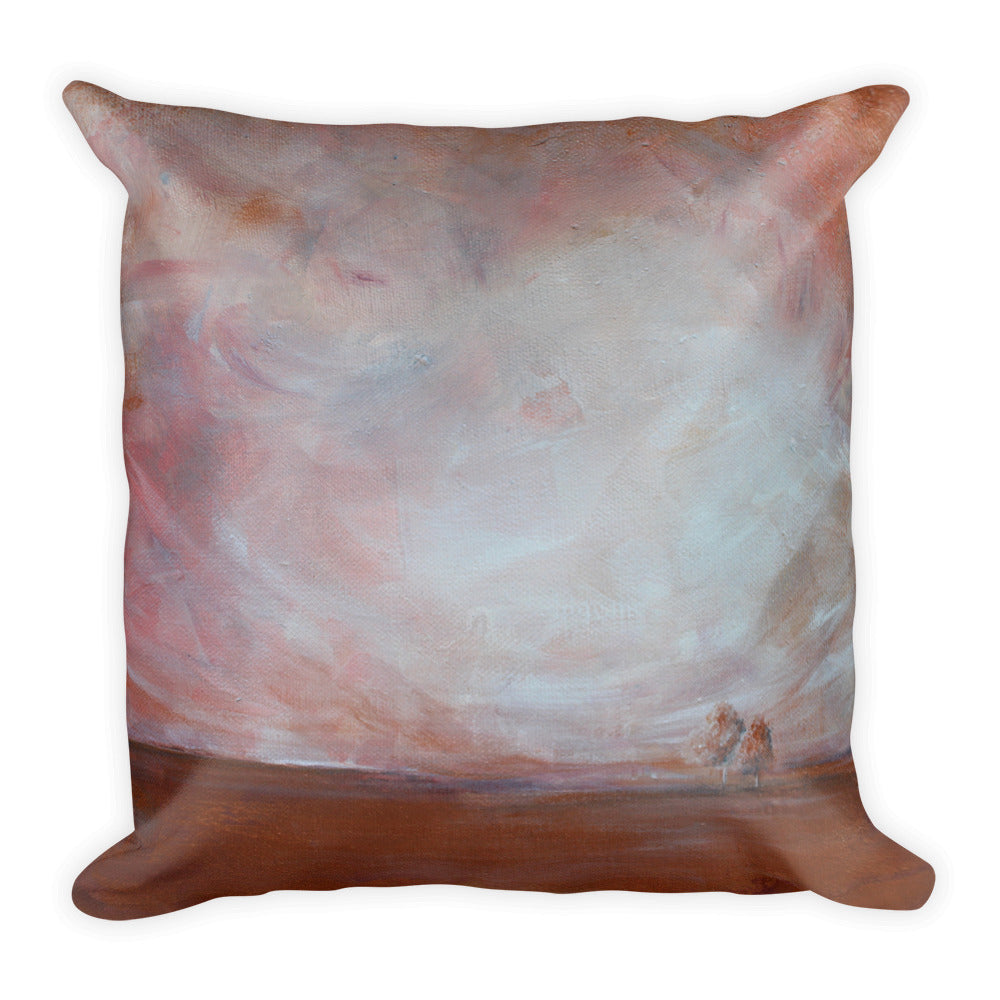 Quite Distance - Landscape Art Pillow