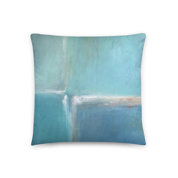 Spa Daze - Abstract Color Block Throw Pillow - The Modern Home Co. by Liz Moran